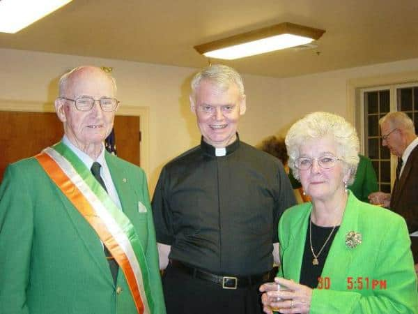 Jim Cremins, Fr. Zahn, and Glada McKinaw