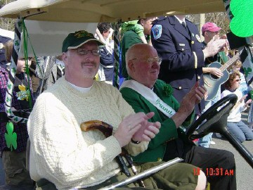 Jim Guy and Grand Marshall Martin Lawler