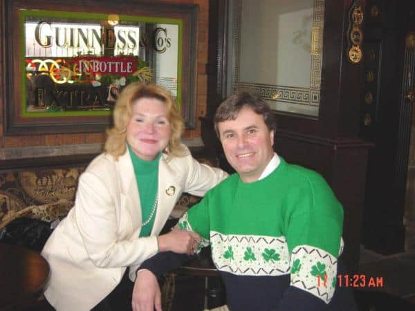 Steve and Helen McGann at Rosie Connells