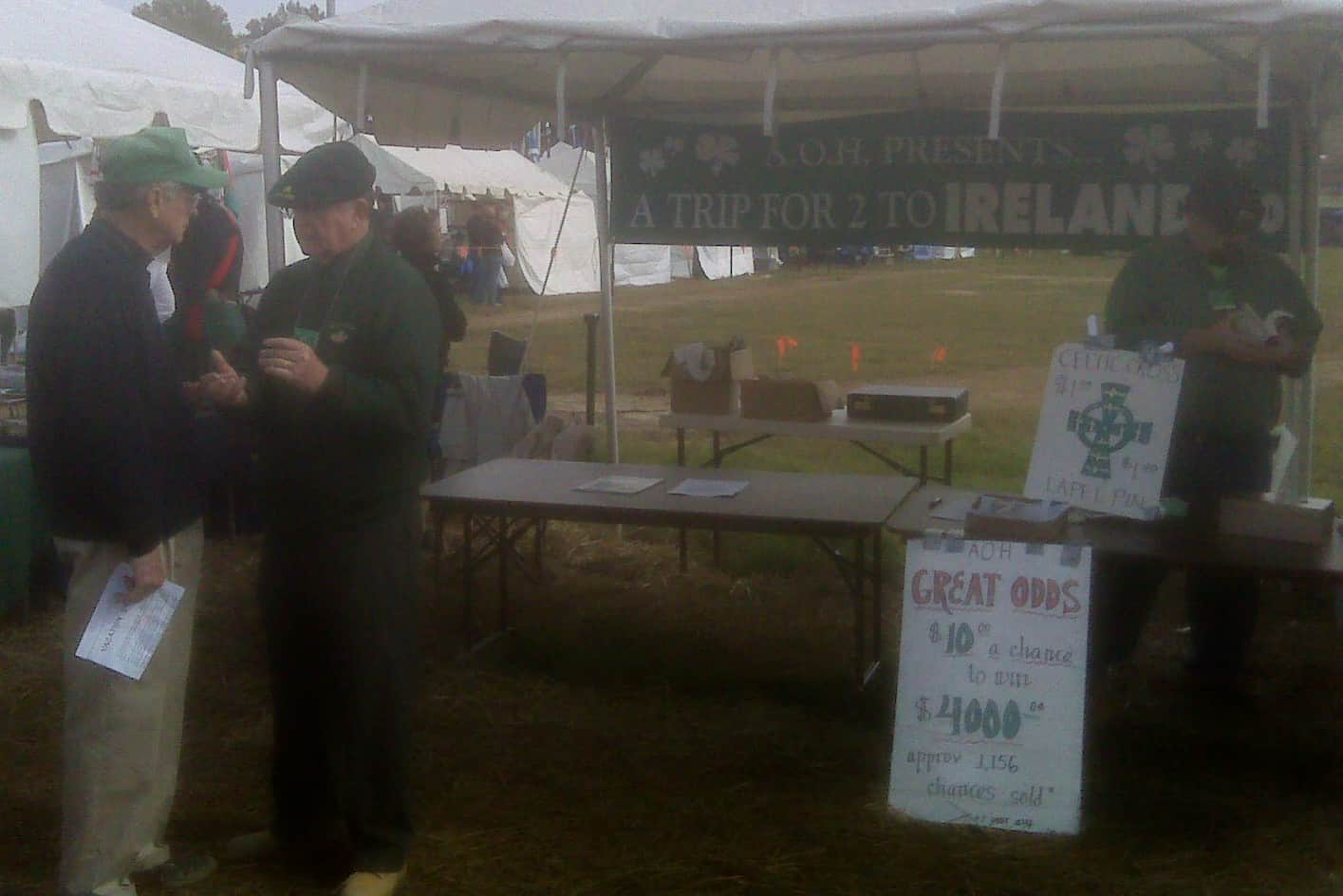 AOH Table at Celtic Festival - Lou Sullivan, Paul McFadden, Pat Knightly