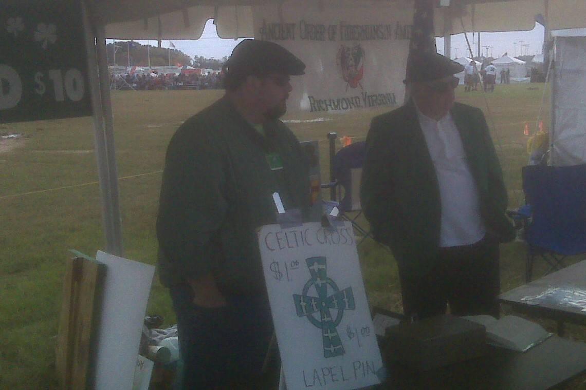 Pat Knightly and Mike Muldowney manning AOH Table