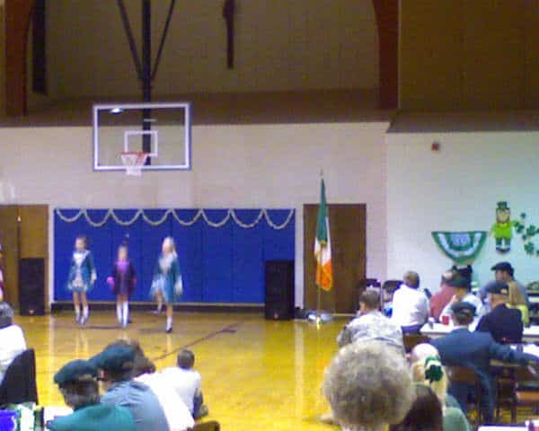 Irish dancers performing at Irish Night 2009 at St. Mary's